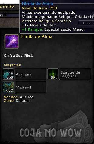 artefato-fibrila-de-alma-profissao-encantamento-warcraft